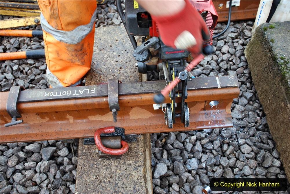 2020-01-09 Track renewal Cowpat Crossing to just beyond Dickers crossing. (116) 116