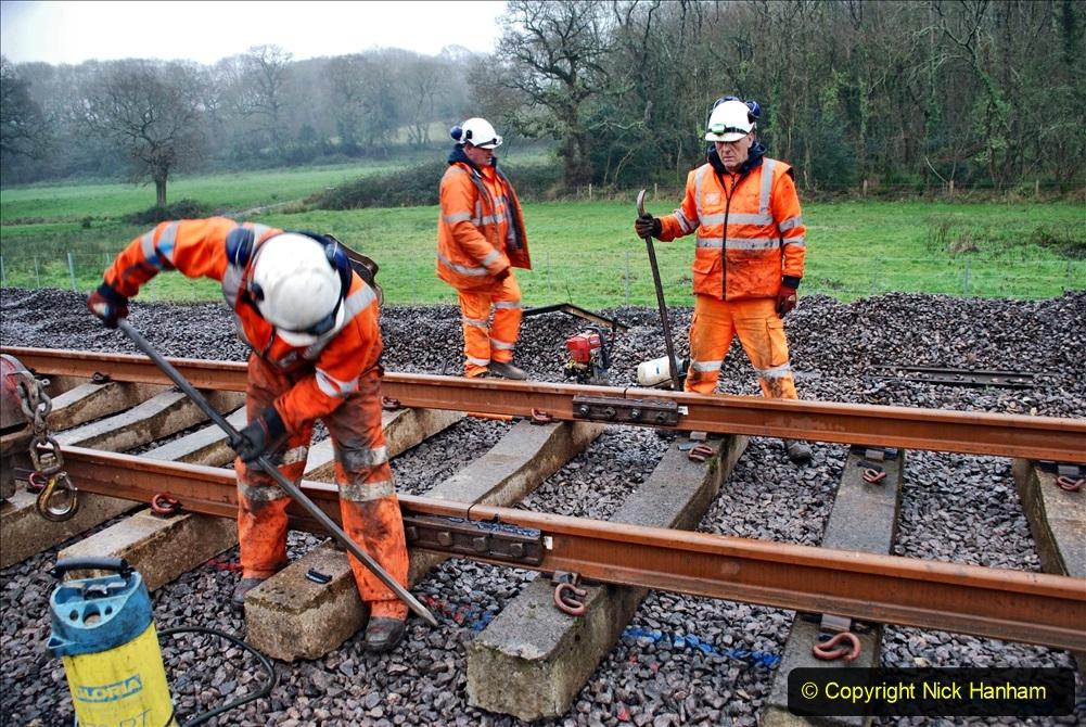 2020-01-09 Track renewal Cowpat Crossing to just beyond Dickers crossing. (137) 137