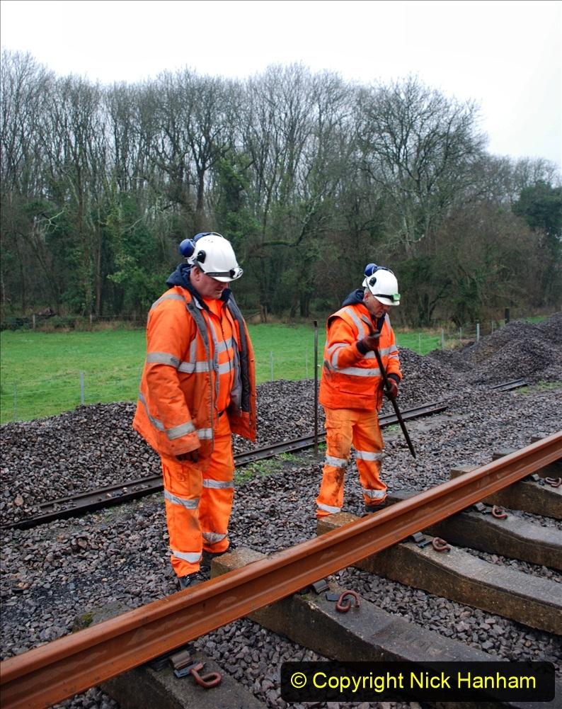 2020-01-09 Track renewal Cowpat Crossing to just beyond Dickers crossing. (138) 138