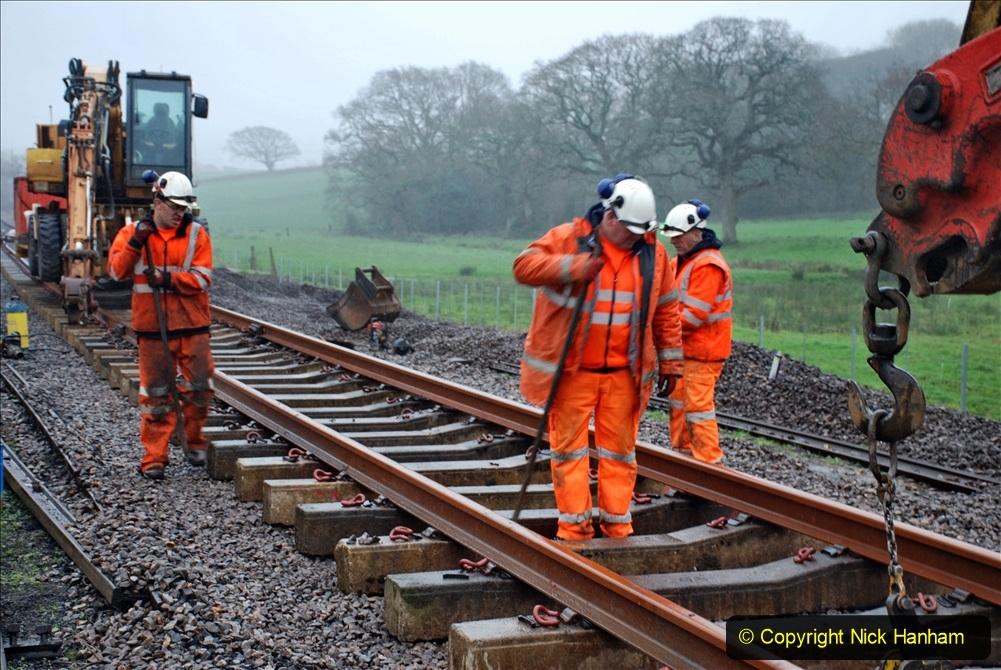 2020-01-09 Track renewal Cowpat Crossing to just beyond Dickers crossing. (140) 140