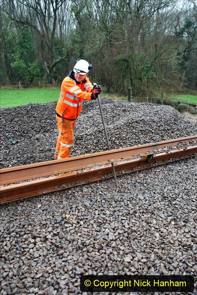2020-01-09 Track renewal Cowpat Crossing to just beyond Dickers crossing. (142) 142
