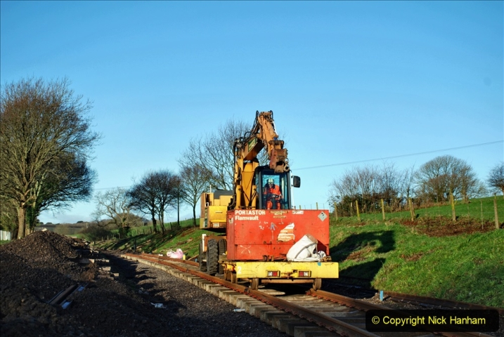 2020-01-17 Track renewal Cowpat Crossing to just past Dickers Crossing. (23) Drainage Work. 23