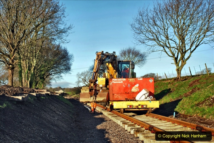 2020-01-17 Track renewal Cowpat Crossing to just past Dickers Crossing. (31) Drainage Work. 31