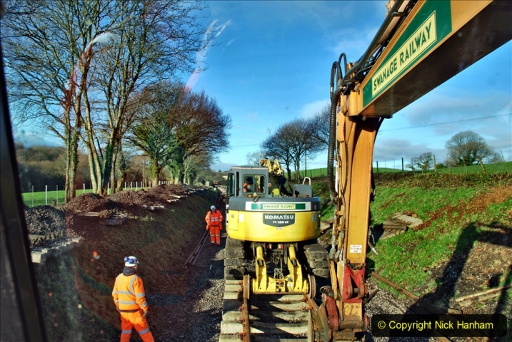 2020-01-17 Track renewal Cowpat Crossing to just past Dickers Crossing. (42) Drainage Work. 42