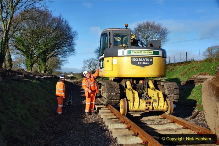 2020-01-17 Track renewal Cowpat Crossing to just past Dickers Crossing. (44) Drainage Work. 44