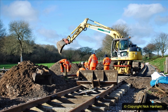 2020-01-17 Track renewal Cowpat Crossing to just past Dickers Crossing. (100) Drainage Work. 100