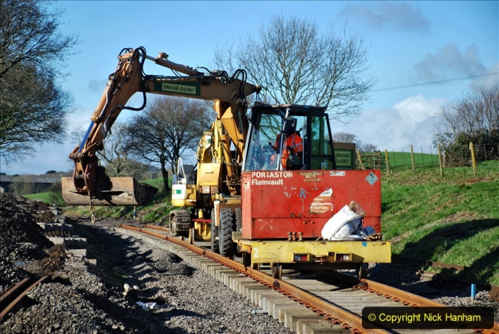 2020-01-17 Track renewal Cowpat Crossing to just past Dickers Crossing. (157) Drainage Work. 157