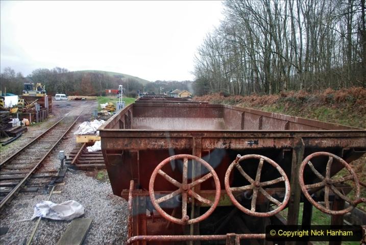 2020-01-24 Track renewall Cowpat Crossing to just past Dickers Crossing. (129) Ballast work. 129