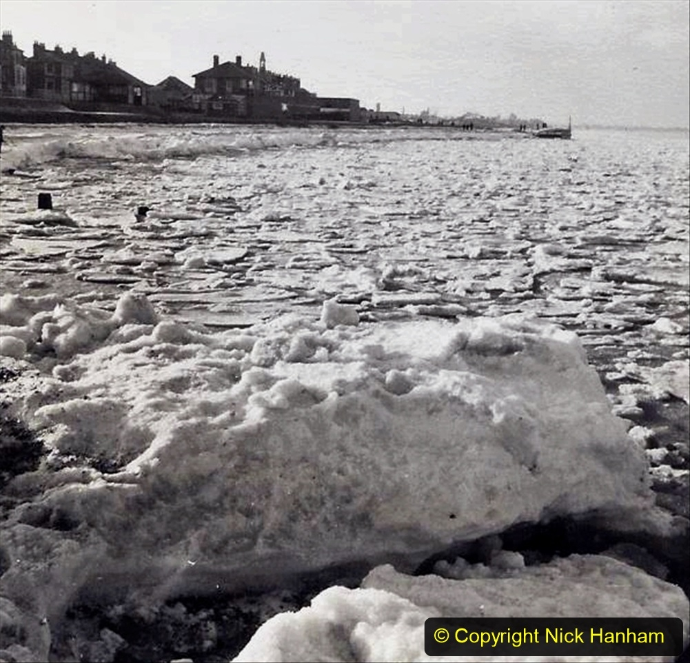 D and C Hodges Collection 2. (8) Frozen sea ice Sheerness, Kent  January 1963. 008