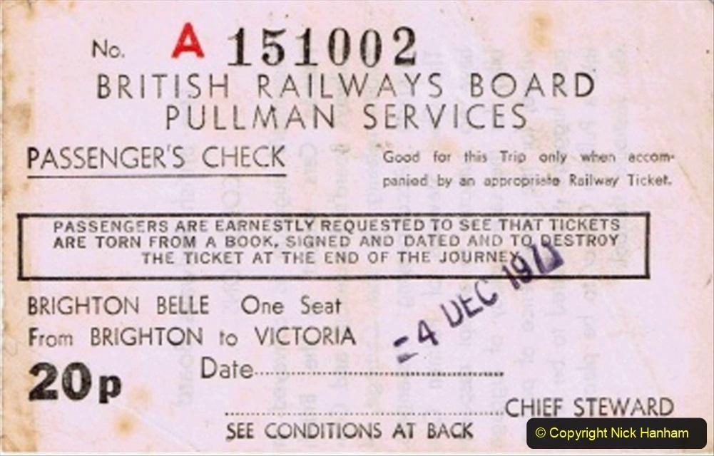 Railway Food. (136) The Brighton Belle. 136