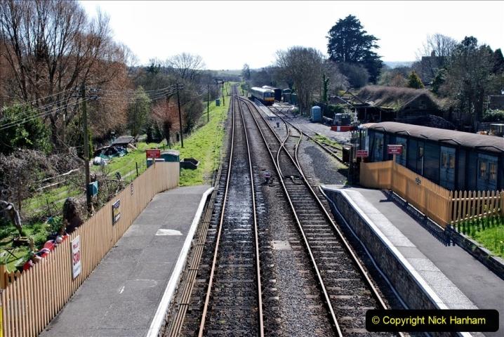 2020-03-23 Covid 19 shuts the Swanage Railway. (89) Corfe Castle. 089