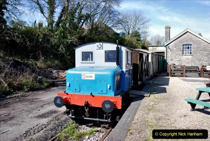 2020-03-23 Covid 19 shuts the Swanage Railway. (98) Corfe Castle. 098