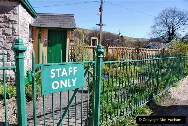 2020-03-23 Covid 19 shuts the Swanage Railway. (101) Corfe Castle. 101