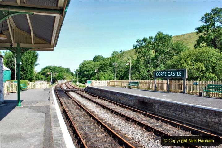 2020-06-23 Swanage Railway still in lockdown. (61) Corfe Castle. 061