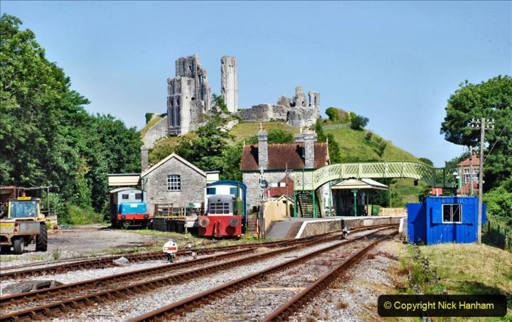2020-06-23 Swanage Railway still in lockdown. (67) Corfe Castle. 067