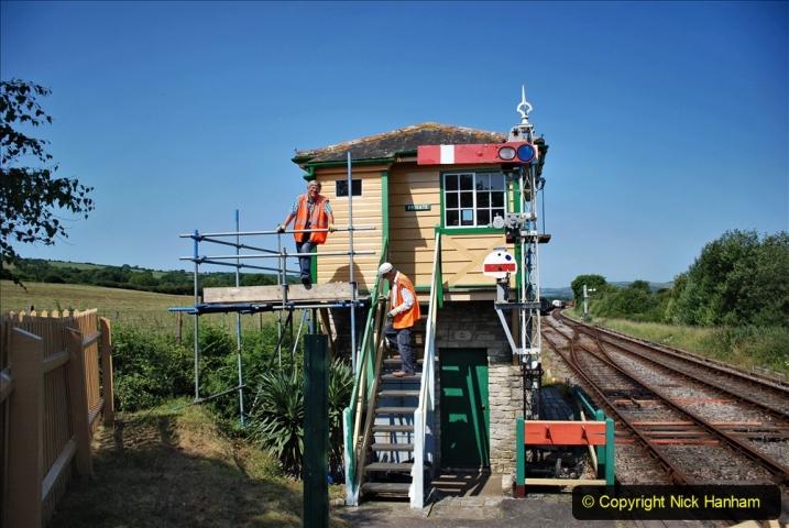 2020-06-23 Swanage Railway still in lockdown. (90) Harmans Cross. 090