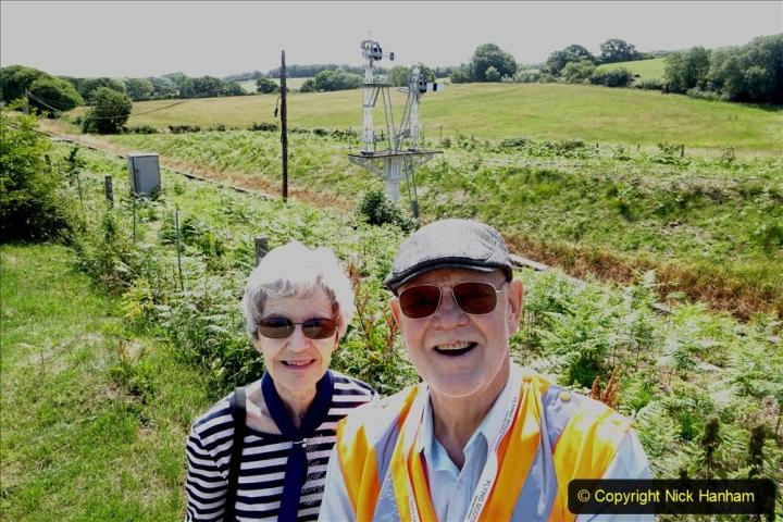2020-06-23 Swanage Railway still in lockdown. (104) Harmans Cross. Your Host & Wife. 104
