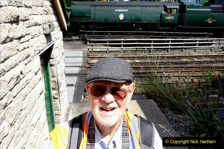 2020-06-23 Swanage Railway still in lockdown. (166) Swanage. Your Host. 166