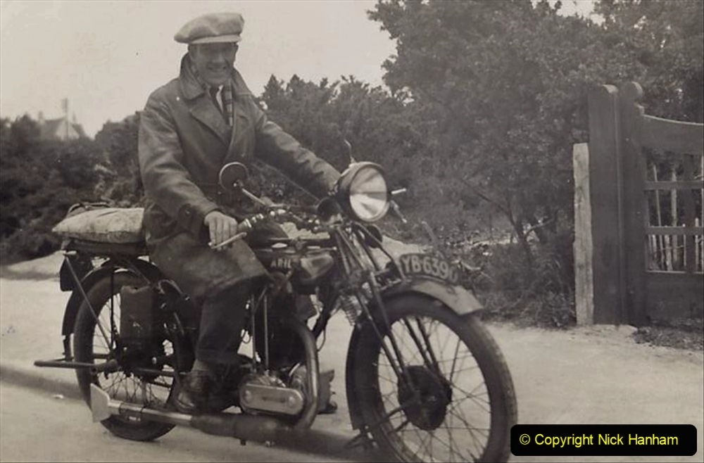 My Late Stepfather Jocelyn Hanham. (4) Ariel motorcycle. 004