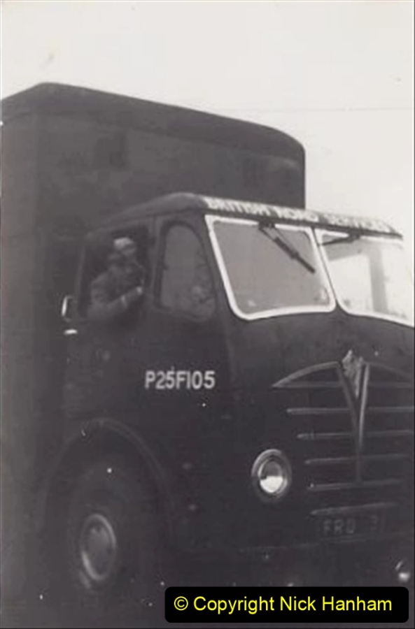 My Late Stepfather Jocelyn Hanham. (43) A 16 year old stepson pretending to drive a Foden DG. 1959. 043