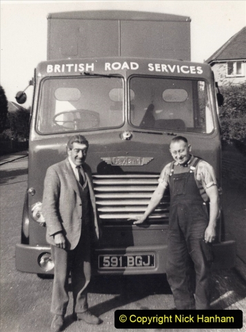 My Late Stepfather Jocelyn Hanham. (46) With mate Percy. Poole, Dorset. 1960. 046