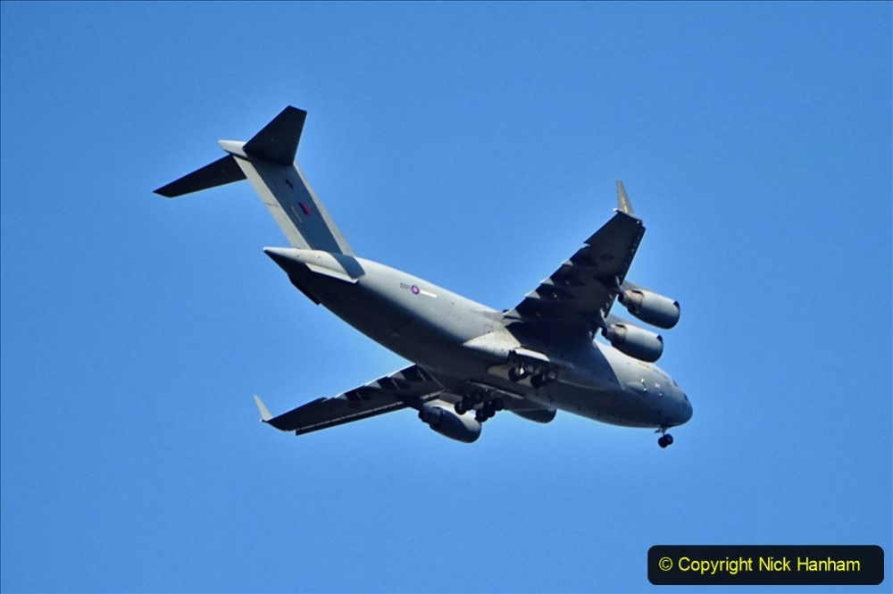 2020-09-05 Globemaster C-17 Over Poole, Doprset. (2) 037