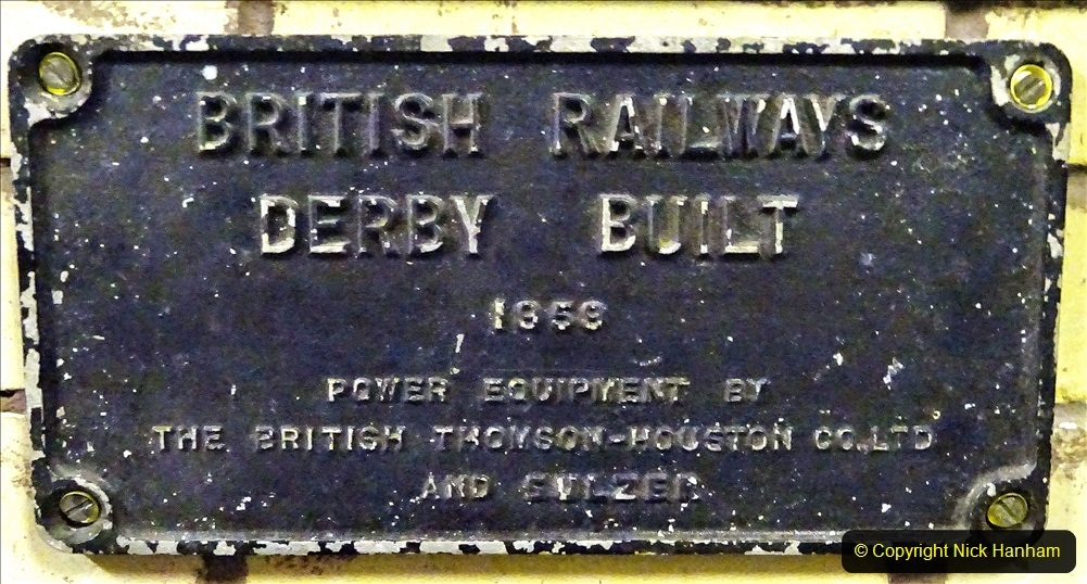 2020-10-15 Builders  plate from a Class 25 Diesel (Not sure from which loco.) (16) 032
