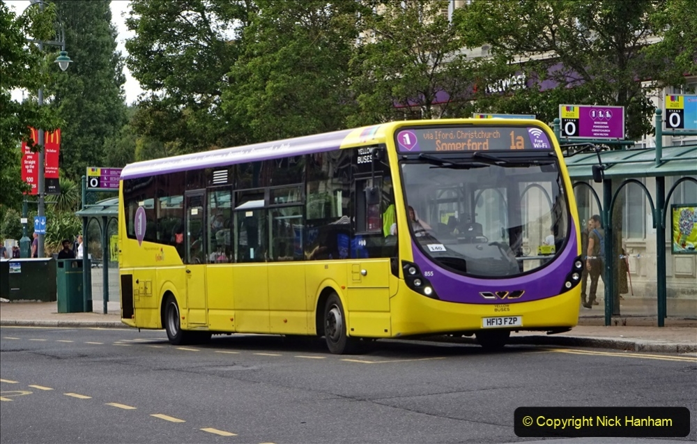 2020-09-09 More Yellow Buses Bournemouth Square. (3) 175