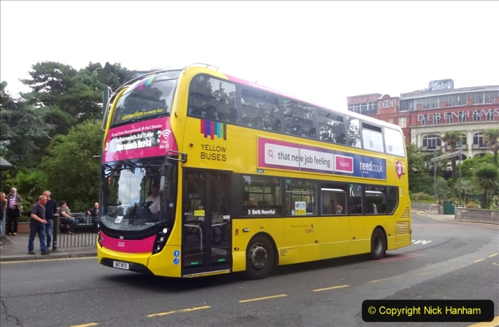 2020-09-09 More Yellow Buses Bournemouth Square. (9) 181