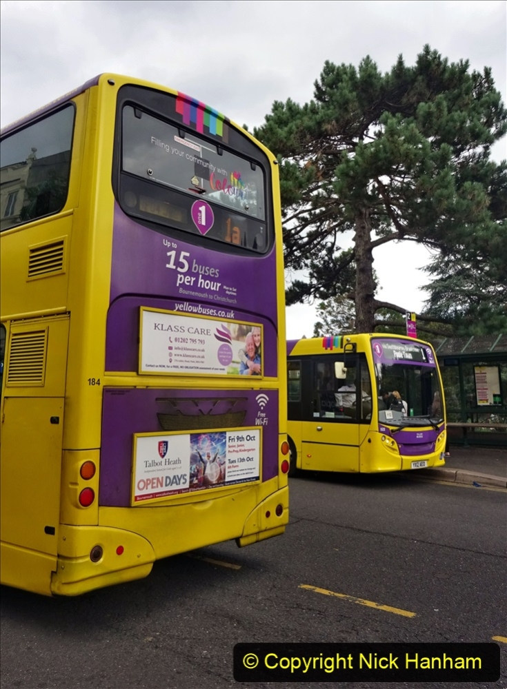 2020-09-09 More Yellow Buses Bournemouth Square. (25) 197