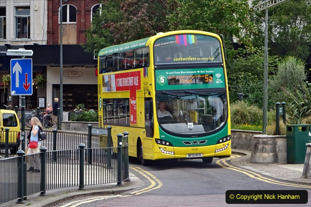 2020-09-09 More Yellow Buses Bournemouth Square. (27) 199