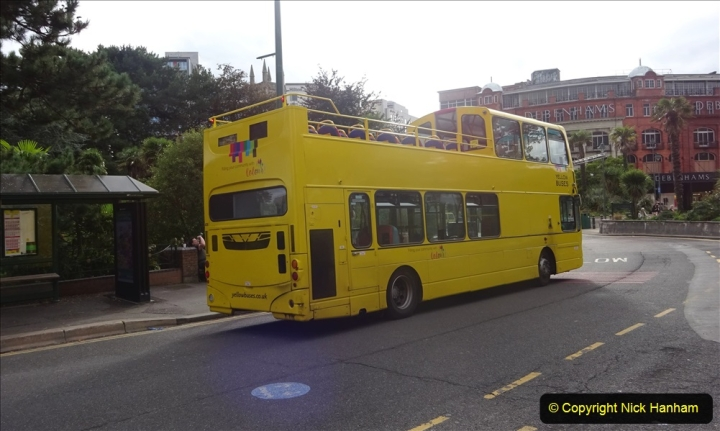 2020-09-09 More Yellow Buses Bournemouth Square. (33) 205