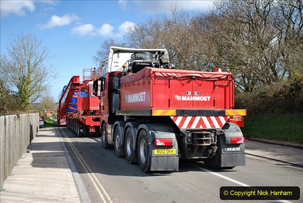 2020 March 16 Norden Gates on the Swanage Railway a very large load for Wytch Farm Oil Field (12) 051