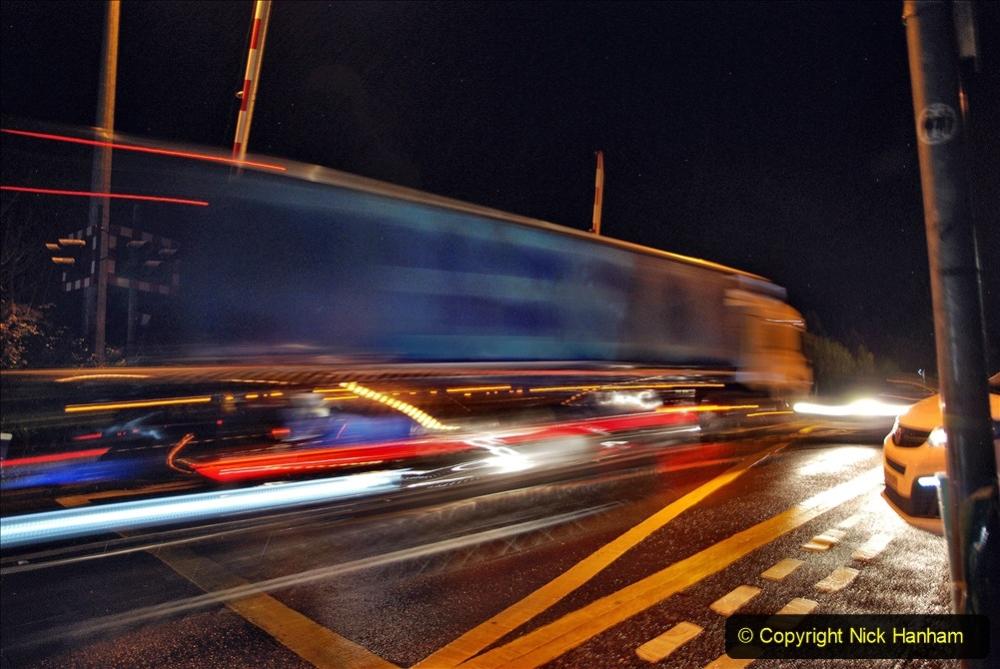 2020-12-14 Tesco Express by night at Brockenhurst, Hampshire. (1) 200