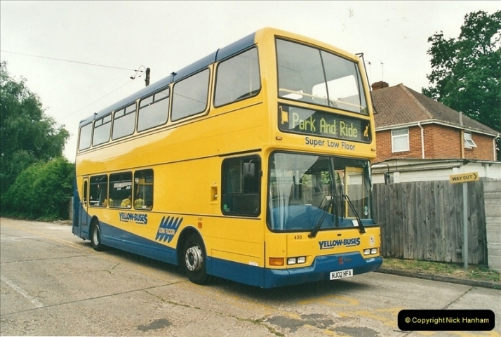 2002-06-30. 100 Years of Yellow Buses Open Day, Mallard Road Depot. Bournemouth, Dorset.    (3)018