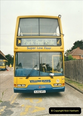 2002-06-30. 100 Years of Yellow Buses Open Day, Mallard Road Depot. Bournemouth, Dorset.    (4)019