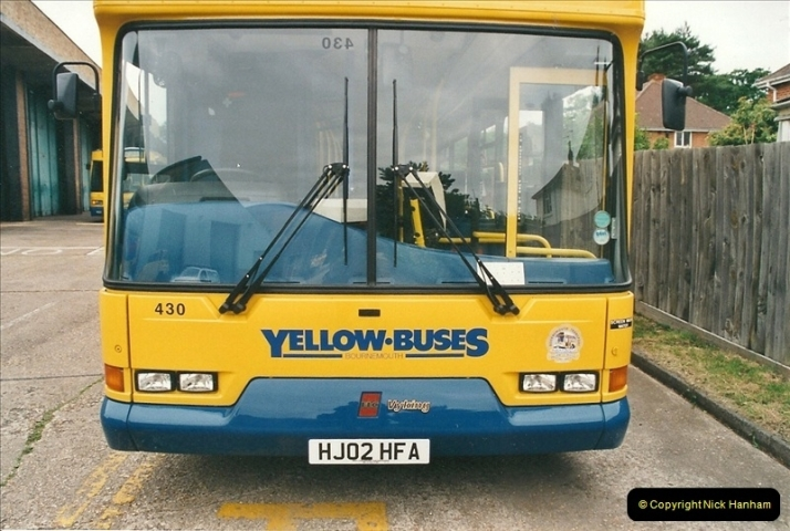 2002-06-30. 100 Years of Yellow Buses Open Day, Mallard Road Depot. Bournemouth, Dorset.    (5)020