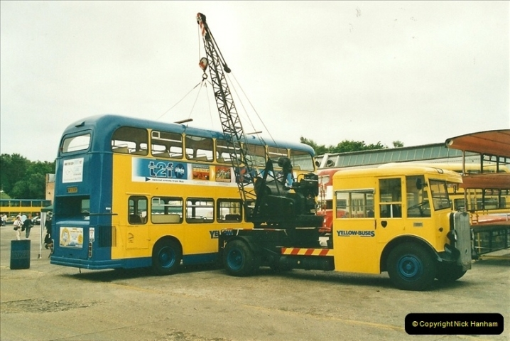 2002-06-30. 100 Years of Yellow Buses Open Day, Mallard Road Depot. Bournemouth, Dorset.    (8)023