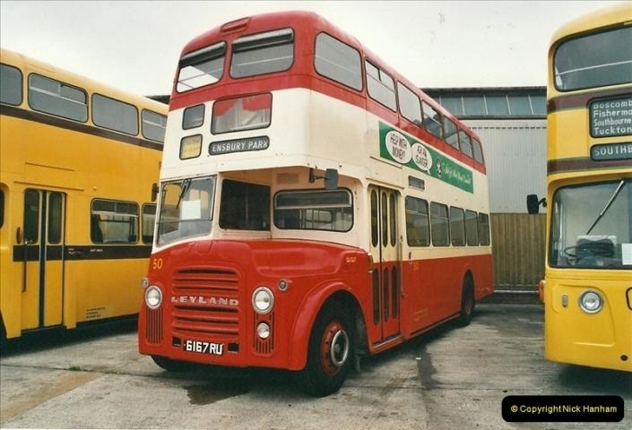 2002-06-30. 100 Years of Yellow Buses Open Day, Mallard Road Depot. Bournemouth, Dorset.    (12)027