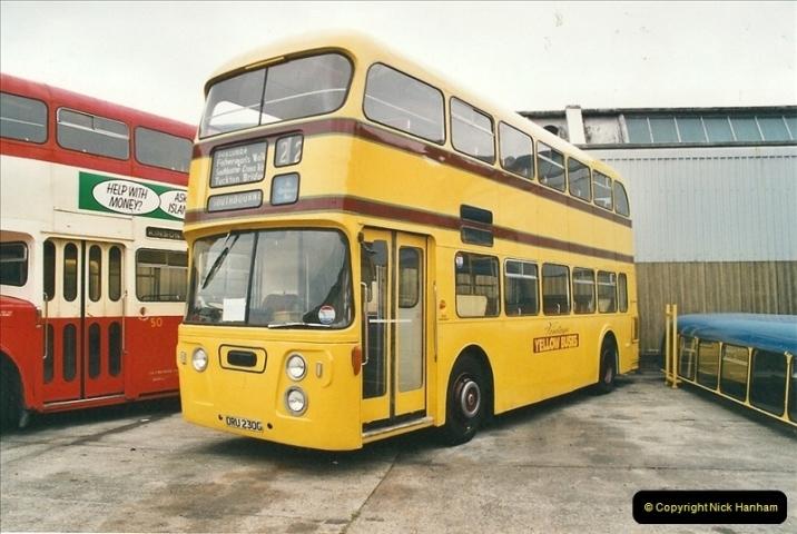 2002-06-30. 100 Years of Yellow Buses Open Day, Mallard Road Depot. Bournemouth, Dorset.    (13)028