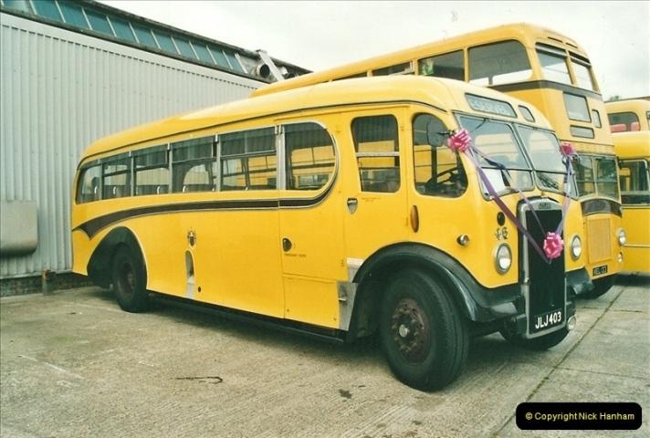 2002-06-30. 100 Years of Yellow Buses Open Day, Mallard Road Depot. Bournemouth, Dorset.    (22)037