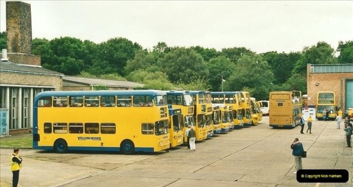 2002-06-30. 100 Years of Yellow Buses Open Day, Mallard Road Depot. Bournemouth, Dorset.    (24)039