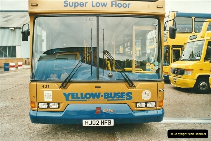 2002-06-30. 100 Years of Yellow Buses Open Day, Mallard Road Depot. Bournemouth, Dorset.    (26)041