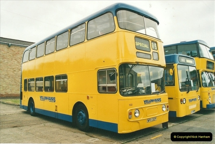 2002-06-30. 100 Years of Yellow Buses Open Day, Mallard Road Depot. Bournemouth, Dorset.    (31)046