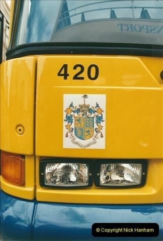 2002-06-30. 100 Years of Yellow Buses Open Day, Mallard Road Depot. Bournemouth, Dorset.    (35)050