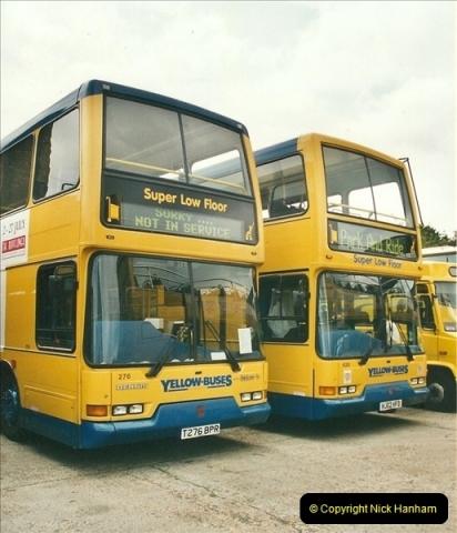 2002-06-30. 100 Years of Yellow Buses Open Day, Mallard Road Depot. Bournemouth, Dorset.    (37)052