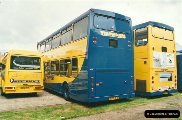 2002-06-30. 100 Years of Yellow Buses Open Day, Mallard Road Depot. Bournemouth, Dorset.    (38)053