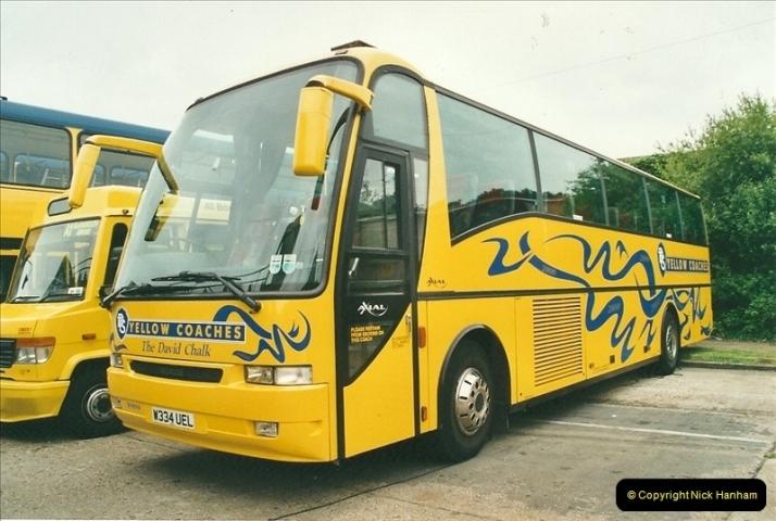 2002-06-30. 100 Years of Yellow Buses Open Day, Mallard Road Depot. Bournemouth, Dorset.    (39)054