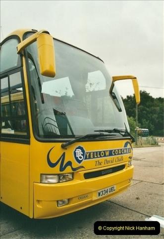 2002-06-30. 100 Years of Yellow Buses Open Day, Mallard Road Depot. Bournemouth, Dorset.    (40)055
