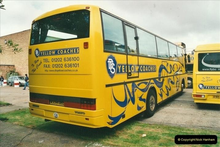 2002-06-30. 100 Years of Yellow Buses Open Day, Mallard Road Depot. Bournemouth, Dorset.    (42)057